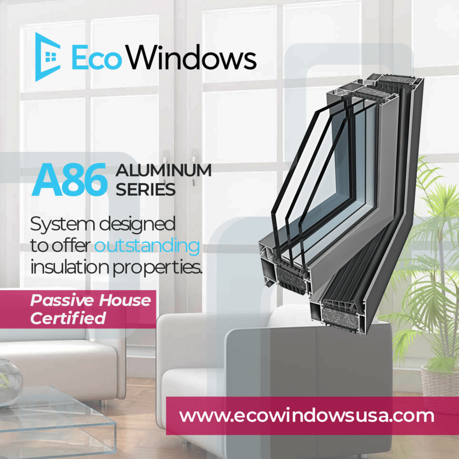 Windows and doors - A86 passive house system