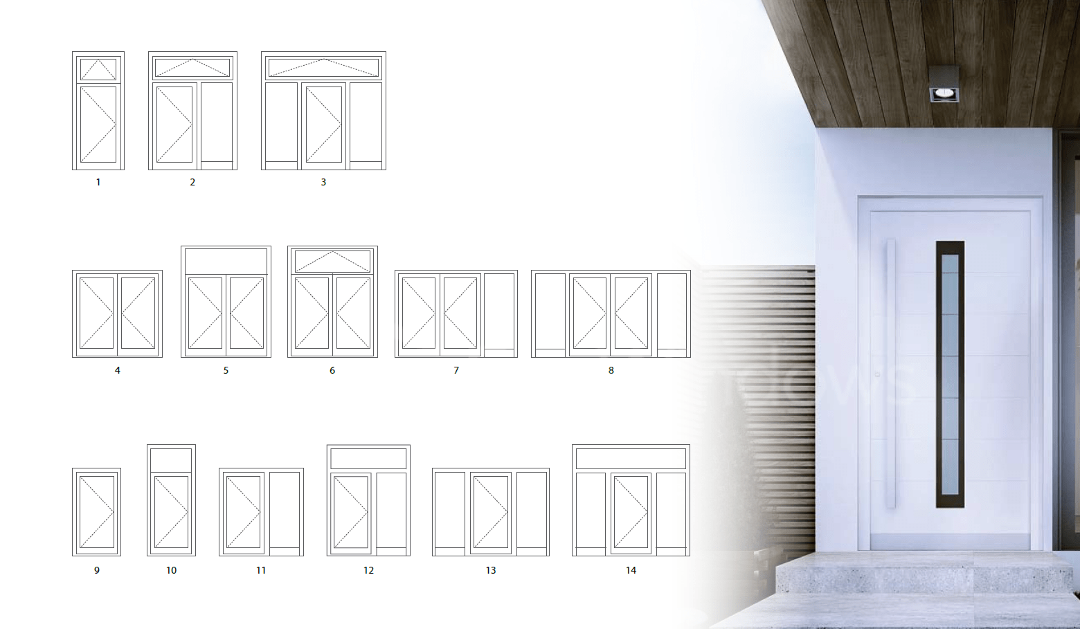 consstructions of a series doors