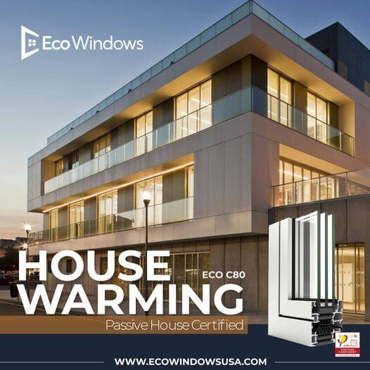 Modern house design passive windows