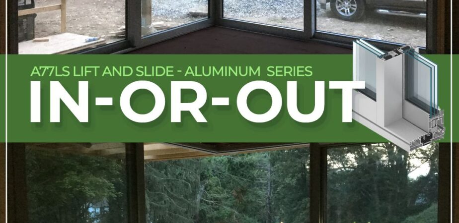 Aluminum sliding solutions – In-or-out – Open corner products available in multiple configurations